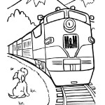 M&M Railroad diesel trainwith a dog