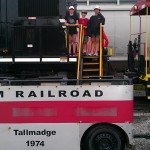 M&M Railroad trackless train at Norfolk Southern event