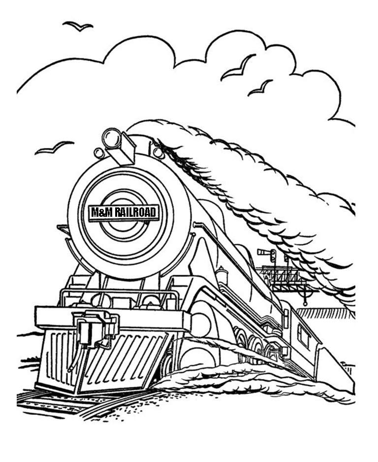 mm railroad steam train coloring page