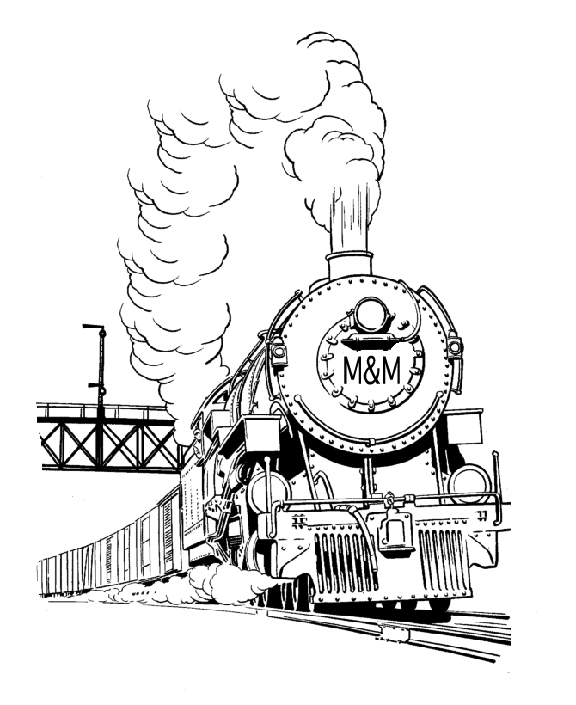 Coloring Pages - M&M Railroad