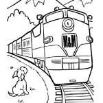 M&M Railroad diesel trainwith a dog