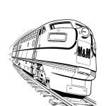 M&M Railroad diesel train